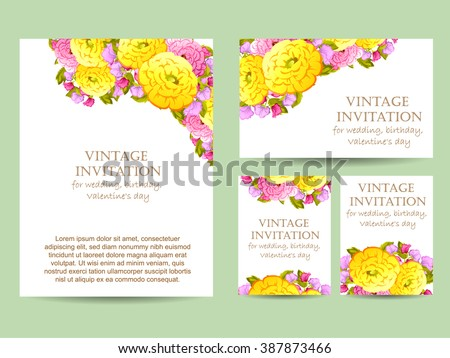 Romantic invitation wedding marriage bridal birthday em ilustrao romantic invitation wedding marriage bridal birthday stopboris Images