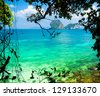 Romantic Island Exotic Beach - stock