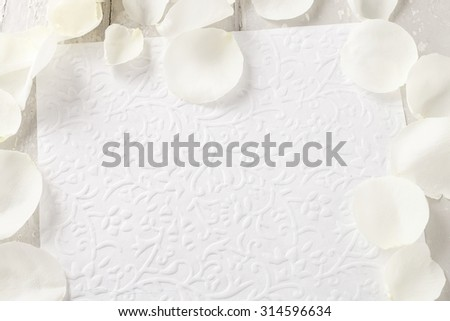 Romantic letter background, blank space - stock photo