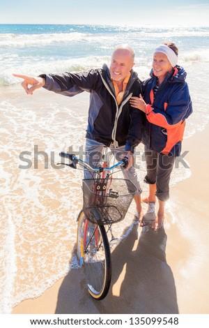 romantic older couple - stock photo