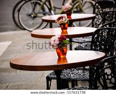 Romantic Parisian cafe. - stock photo
