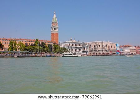 Romantic places in Venice, Italy - stock photo