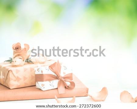 romantic presents - stock photo