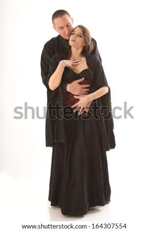 Romantic Renaissance Couple - stock photo