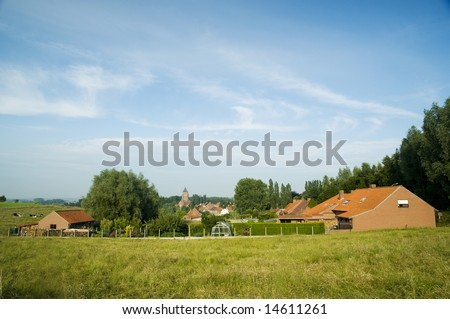 romantic small Belgium agriculture Village