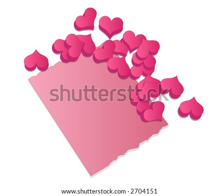 Romantic Stationery and Candy Hearts - stock photo