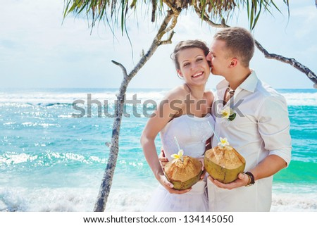 romantic wedding on the beach, bali