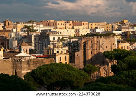 Rome city view in Autumn, Rome, Italy