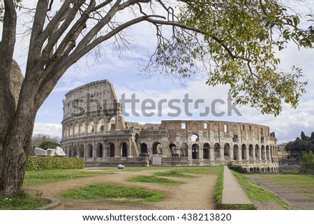 Rome Colosseum in Italy - stock photo
