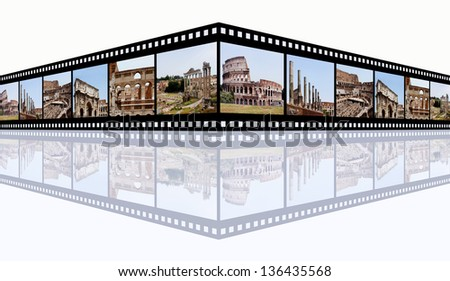 Rome Impressions Computer generated 3D illustration - stock photo