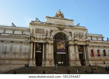Palazzo stock images royalty free images vectors for Palazzo delle esposizioni rome italy