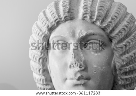 Rome, Italy  August 14, 2015: Statue from Palatine Domus, Rome, Italy