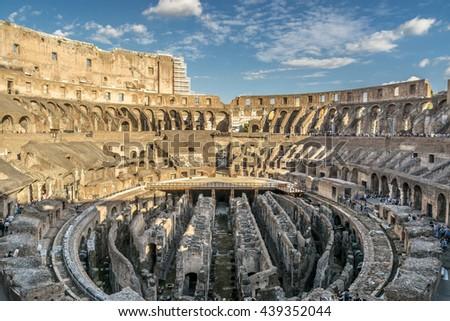 Roman Architecture Colosseum inside coliseum rome italy stock photo 57780274 - shutterstock