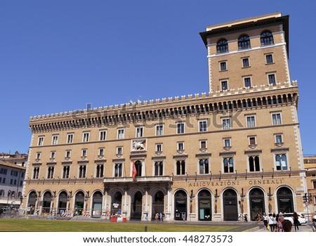 Palazzo delle assicurazioni generali stock images for Palazzo delle esposizioni rome italy