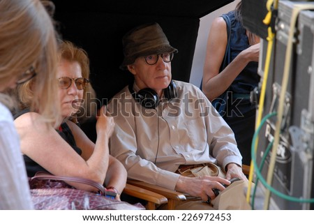 "ROME, ITALY - JULY 7, 2011: US Director Woody Allen during the filming of the movie ""To Rome with Love""."