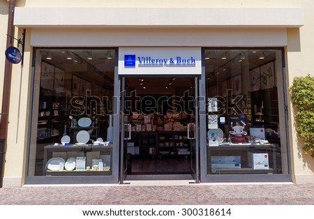 ROME, ITALY - JULY 27, 2015. Villeroy & Boch Store in Rome, Italy. Villeroy & Boch is a large manufacturer of ceramics with the company headquarters located in Mettlach, Germany.