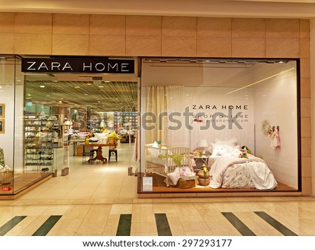 ROME, ITALY - JULY 17, 2015. Zara Home Store in Rome, Italy. Zara Home is a company belonging to the Spanish Inditex group dedicated to the manufacturing of home textiles.