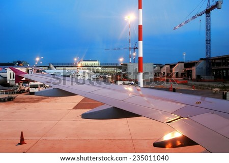 ROME, ITALY - JUNE 1: Fiumicino airport - first airport of Rome city on June 1, 2014, Rome, Italy.
