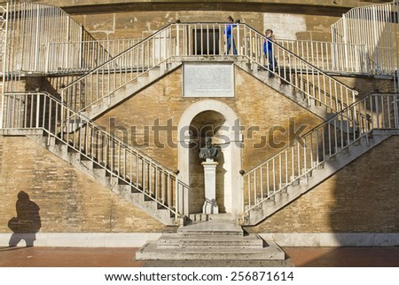 ROME, ITALY, November 26, 2011: St. Peter's Basilica, St. Peter's Square, Vatican City. Rome  - stock photo