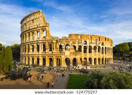 Rome, Italy Oct 17, 2016: View of the Colosseum, Italy, Rome - Italy, Capital Cities, International Landmark