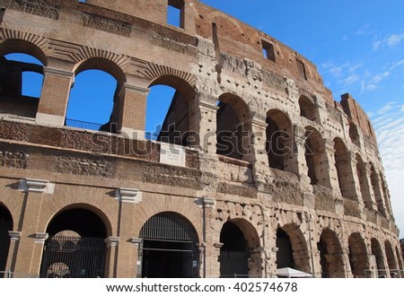 Rome, Italy - October 22, 2015:Colosseum in Rome, Italy - stock photo