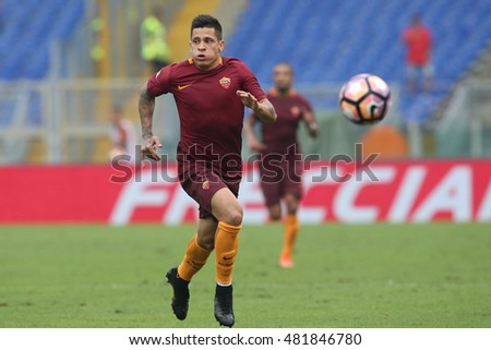 Rome, Italy 11 september 2016: Iturbe in action during the italian Serie A league match between As Roma and Sampdoria at Olimpic Stadium on Seprember 11, 2016 in Rome  Italy.