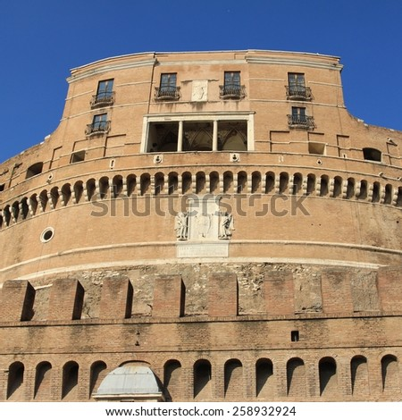 Rome, Italy. View of famous Castel Sant' Angelo. - stock photo