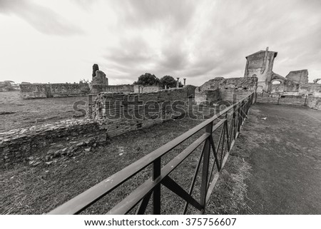ROME - January 13: View of the Roman Forum on January 13, 2016 in Rome, Italy.