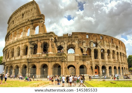 ROME - JUNE 5: the Colosseum on June 5, 2013 in Rome, Italy. Rome is one of the most visited cities in the world with some 30 million visitors each year.