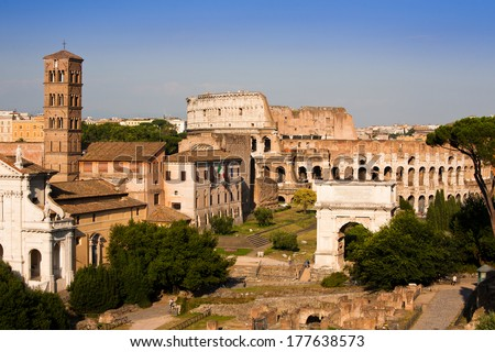 rome landscape, Italy