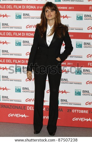 ROME - OCT 26: Penelope Cruz attends a photocall during the 6th International Rome Film Festival on October 26, 2011 in Rome, Italy - stock photo