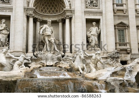 Rome One of the most famous landmarks - Trevi Fountain