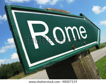 ROME road sign