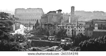 Rome ruins - stock photo