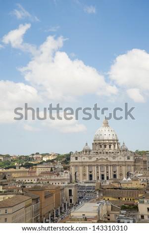 rome, st. peter´s church - stock photo
