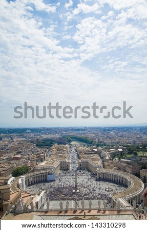 rome, st. peters square - stock photo