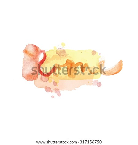 Rome. The hand drawn watercolor letters. Elegant greeting card decoration. Lettering and typographic design. - stock photo