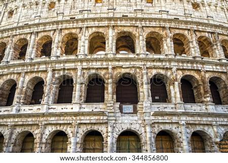 Rome, The Majestic Coliseum. Italy. - stock photo