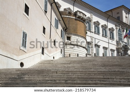 Rome, the Quirinal Palace, the official residence of the Presidents of the Italian Republic.