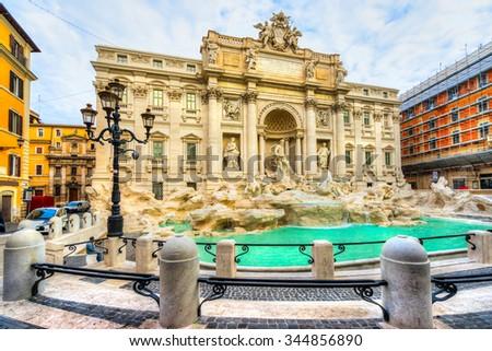 Rome, Trevi Fountain. Italy. - stock photo