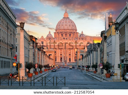 Rome, Vatican city - stock photo