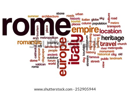 Rome word cloud concept - stock photo