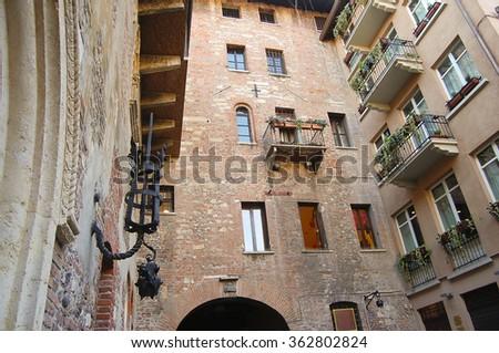 Romeo & Juliet Square - Verona - Italy - stock photo