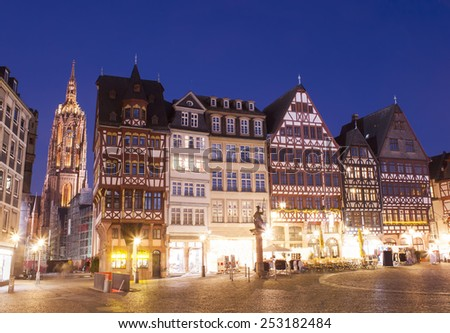 Romer in Frankfurt am Main city, Germany. - stock photo