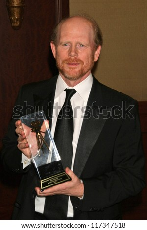 Ron Howard at the American Society of Cinematographers 21st Annual Outstanding Achievement Awards. Hyatt Regency Century Plaza Hotel, Century City, CA. 02-18-07