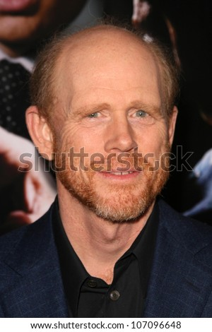 Ron Howard  at the Los Angeles Premiere of 'Frost-Nixon'. Samuel Goldwyn Theater, Los Angles, CA. 11-24-08 - stock photo