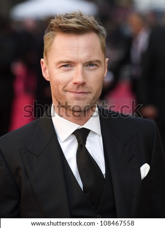 Ronan Keating arrives for the Olivier Awards 2012 at the Royal Opera House, Covent Garden, London. 15/04/2012 Picture by: Simon Burchell / Featureflash - stock photo