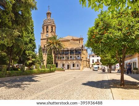 Ronda Cathedral. Spain, Ronda. - stock photo