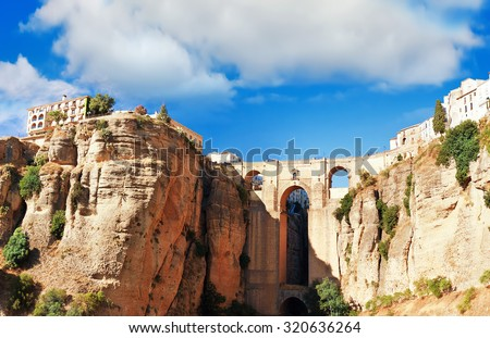 Ronda, Malaga Province, Andalusia, Spine - stock photo