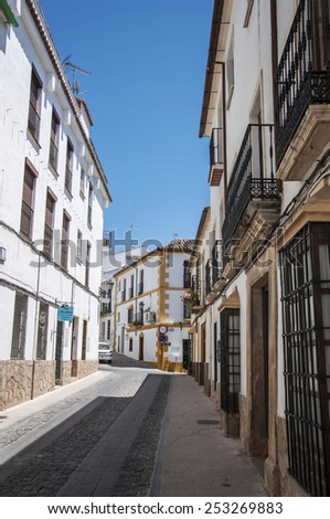 Ronda, Spain - May 6, 2014. Streets in the white town of Ronda, Spain, Andalucia